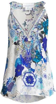 Camilla Floral Silk Tank Top