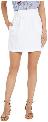 BB Dakota In The Bag Denim Paper Bag Waisted Skirt (Optic White) Women's Skirt