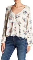 Lush Floral V-Neck Long Sleeve Blouse