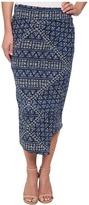 DKNY Batik Print Wrap Maxi Skirt