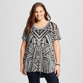 Ava & Viv Women's Plus Size Burnout Side Split Tee