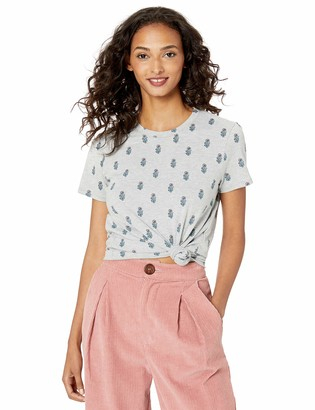 Lucky Brand Women's All Over Woodblock Print TEE
