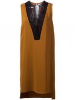 Lanvin Silk Sleeveless Lace Tunic