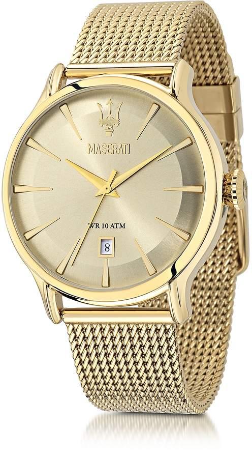Epoca Maserati Gold Tone Stainless Steel Men's Watch