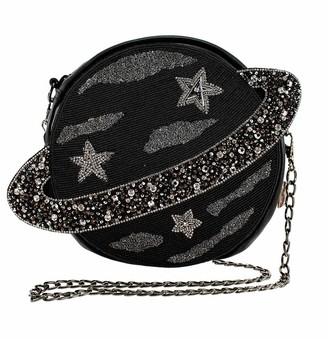 Mary Frances Orbit Embellished Leather Planet Novelty Crossbody Handbag