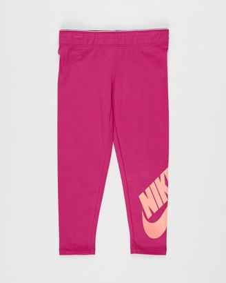 Nike Girl's Pink Leggings - Logo Leggings - Kids - Size 6 YRS at The Iconic