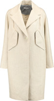 Carven Cotton-trimmed linen coat
