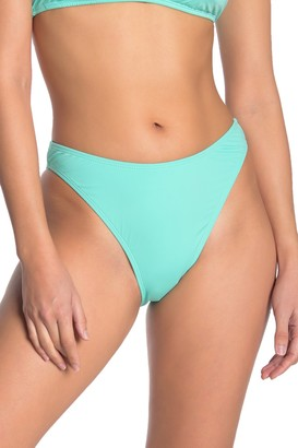The Bikini Lab Solid High Cut Bikini Bottoms