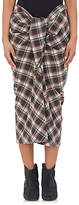 Etoile Isabel Marant Women's Polish Plaid Wool-Blend Pencil Skirt
