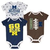 NCAA Michigan Wolverines Newborn 3-Pack Bodysuit Set
