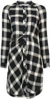 Derek Lam 10 Crosby Long Sleeve Button-Down Tunic With Mandarin Collar