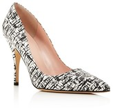 Kate Spade Licorice Crackle Print Pointed Toe Pumps
