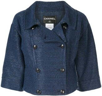 Chanel Pre Owned Double-Breasted Cropped Jacket