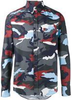 Moncler Gamme Bleu camouflage print shirt - men - Cotton - 2