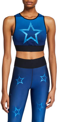 ULTRACOR Level Gradient Dropout Star Crop Top