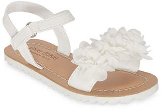 Okie Dokie Toddler Girls Lil Felicity Slingback Strap Flat Sandals