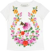 Gucci Floral Printed Cotton Jersey T-Shirt