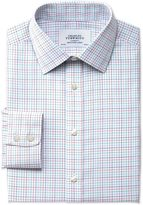 Charles Tyrwhitt Classic fit non-iron multi check green shirt