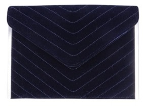 La Regale Quilted Chevron Envelop Clutch