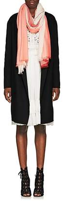 Barneys New York Women's Striped Cashmere Gauze Scarf - Rose