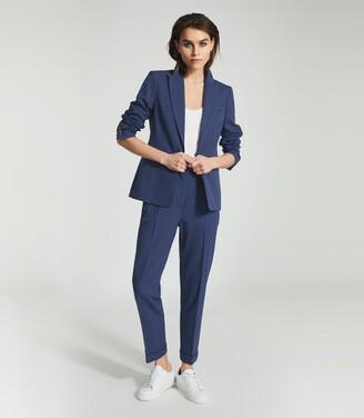 Reiss Sienna - Wool Blend Blazer in Blue