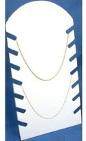FindingKing Necklace Display Chain Jewelry Flocked Showcase