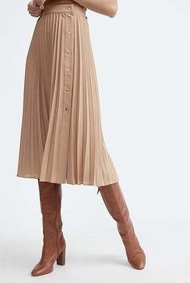 Witchery Button Pleat Skirt