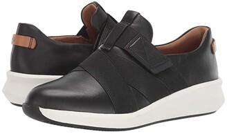 Clarks Un Rio Strap (Black Leather) Women's Shoes