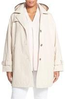 Larry Levine Plus Size Women's A-Line Raincoat