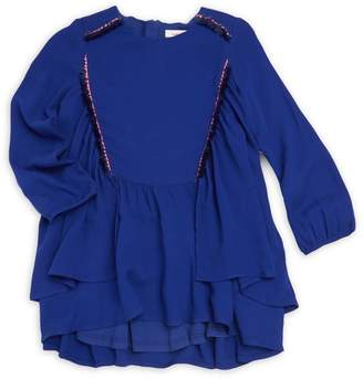 Catimini Little Girl's Embroidered Flowing Dress