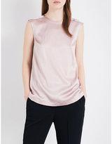 Brunello Cucinelli Embellished stretch-silk top