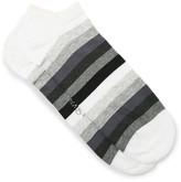 Corgi Striped Cotton-blend Socks - Gray