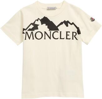 Moncler Mountain Logo Graphic Tee