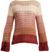 See by Chloe Colour-block open-knit sweater