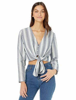 The Fifth Label Women's Guide Long Sleeve Tie Front Stripe Top