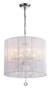 """Home Accessories Crystal 19"""" 6-Light Indoor Pendant Lamp with Light Kit"""