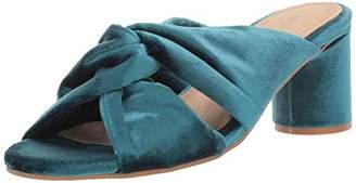 Kaanas Women's Edinburgh Knotted Open Toe Slide Chunky Heel Pump 9 Regular US
