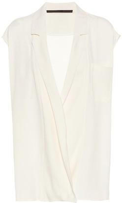 Haider Ackermann Crepe sleeveless wrap top