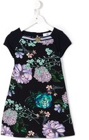 Young Versace - floral Medusa dress - kids - Cotton/Spandex/Elastane - 4 yrs