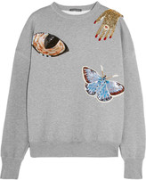 Alexander McQueen Embellished cotton sweatshirt