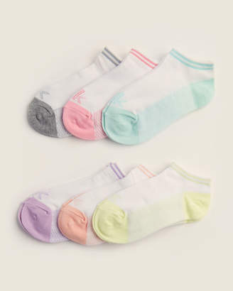 Calvin Klein Girls 7-16) 6-Pair No Show Socks