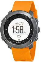 Suunto Men's 50mm Orange Silicone Band Plastic Case Quartz Grey Dial Watch SS021844000