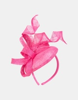 Fuchsia racing pillbox fascinator by Max Alexander