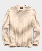 Todd Snyder Long Sleeve Japanese Nautical Stripe Tee in Orange