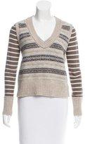 Tory Burch Wool & Alpaca-Blend Striped Sweater