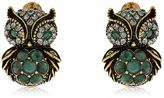 Alcozer & J Sophie & Claire Owl Stud Earrings