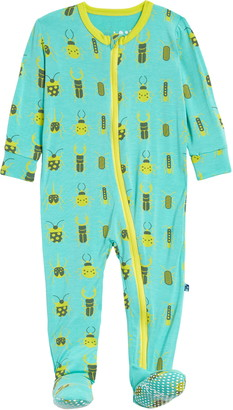 Kickee Pants Beetles Print Footie