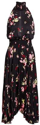 A.L.C. Renzo Floral Pleated Blouson Dress