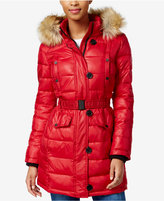 Bar III Faux-Fur-Trim Quilted Puffer Coat, Only at Macy's