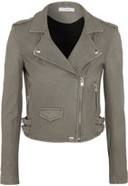 IRO Ashville Washed-leather Biker Jacket - Gray